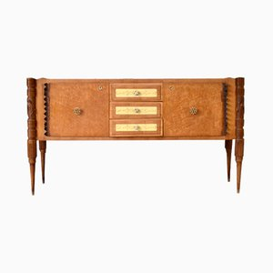 Vintage Italian Maple and Ash Sideboard by Pier Luigi Colli for Marelli, 1930s