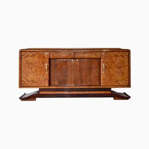Art Deco Italian Rosewood and Walnut Sideboard, 1930s