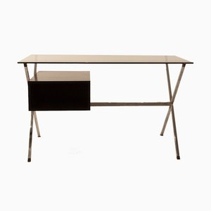 Polychromed Steel, Painted Wood, and Glass Desk by Franco Albini for Knoll Inc. / Knoll International, 1970s