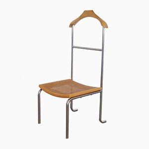 Italian Rattan Valet Chair, 1970s