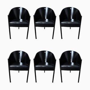 Sillas de comedor modelo Costes vintage de Philippe Starck para Driade, años 80. Juego de 6