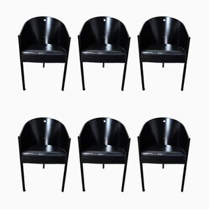 Vintage Model Costes Dining Chairs by Philippe Starck for Driade, 1980s, Set of 6