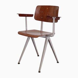 Silla de escritorio modelo S16 de laminado de haya de Galvanitas, años 60
