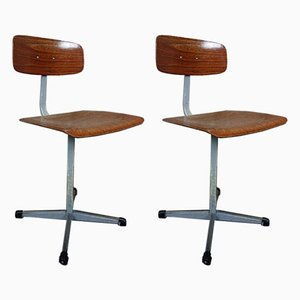 Vintage Desk Chairs, 1960s, Set of 2
