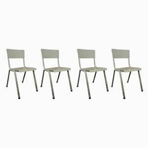 Vintage Industrial Dining Chairs, 1970s, Set of 4