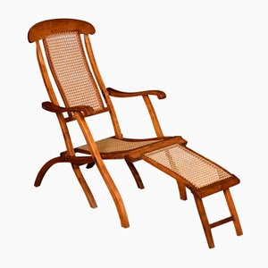 Klappbarer Liegestuhl aus Nussholz