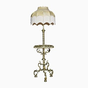 Brass and Onyx Floor Lamp