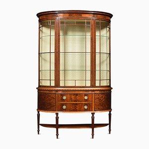 Mahogany Inlaid Display Cabinet