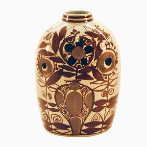 Mid-Century Vase von Kari Christiansen für Aluminia, 1950er