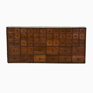 Antique English Apothecary Chemist Chest of Drawers, 1830s