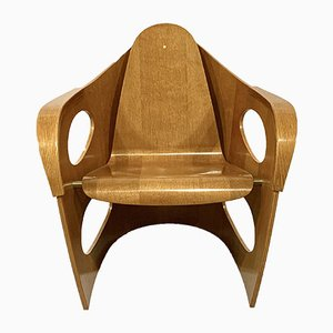 Armlehnstuhl aus Schichtholz, 1990er