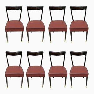 Esszimmerstühle aus Mahagoni von Guglielmo Ulrich für Ar.Ca, 1949, 8er Set