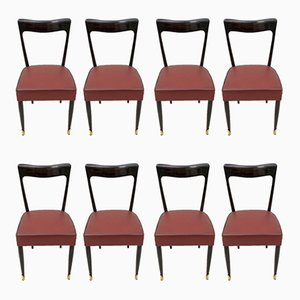 Mahogany Dining Chairs by Guglielmo Ulrich for Ar.Ca, 1949, Set of 8