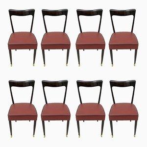 Esszimmerstühle aus Mahagoni von Guglielmo Ulrich für Ar.Ca, 1949, 4er Set