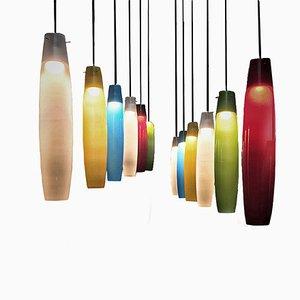 Lámpara colgante de cristal de Murano de Alessandro Pianon para Vistosi, años 60