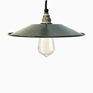 Mid-Century Dutch Industrial Enamel Pendant Lamp