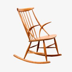 Rocking Chair en Chêne par Illum Wikkelsø pour N. Eilersen, 1958