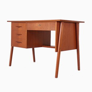 Small Danish Teak Desk, 1970s