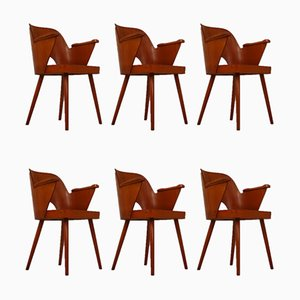 Czech Blonde Bentwood Armchairs by Oswald Haerdtl for Ton, 1960s, Set of 6