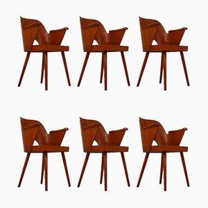 Tschechische Armlehnstühle aus Bugholz von Oswald Haerdtl für Ton, 1960er, 6er Set