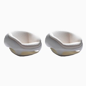 Sculptural Fiberglass Lounge Chairs by Mario Sabo, 1969, Set of 2
