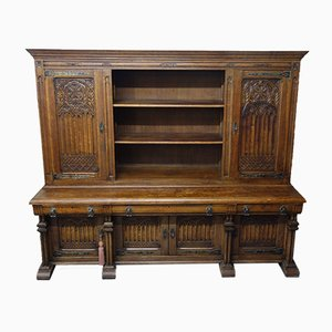 18th Century Belgian Carved Oak Cabinet