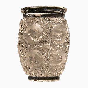 Jarrón francés de vidrio de René Lalique, años 30