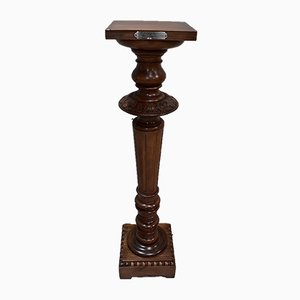 Antique Lous XVI Style Walnut Column, 1900s