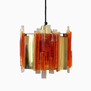 Vintage Danish Pendant Lamp by Claus Bolby, 1970s