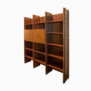 Libreria modulare di Gianfranco Frattini per Bernini, anni '50