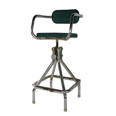 French Vintage Industrial Design Hairdressers Kids Chair, 1940
