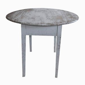 19th Century Rustic Swedish Blue Dining Table