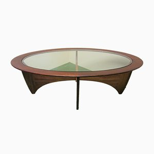 Teak Oval Model Astro Coffee Table by Victor Wilkins for G-Plan, 1960s