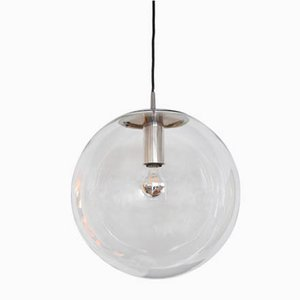 Clear Glass Ceiling Lamp from Peill & Putzler, 1960s