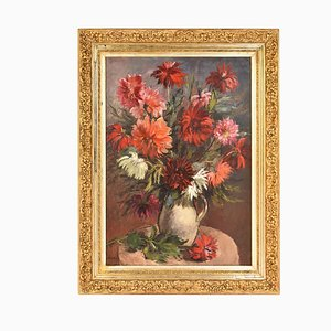 Blumengemälde von Capon Georges Louis Emile, 1930er