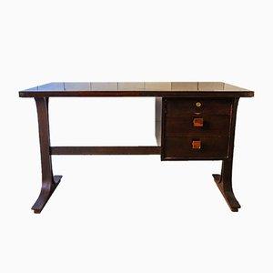 Italienischer Schreibtisch aus Nussholz, 1960er