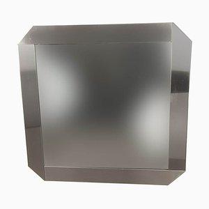 Espejo de acero cepillado de Gaetano Sciolari para Valenti Luce, años 70