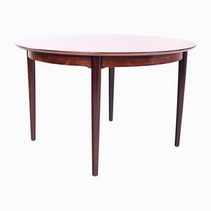 Danish Extendable Round Rosewood Dining Table, 1960s