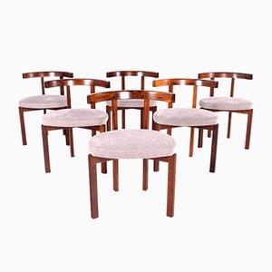 Modell 193 Esszimmerstühle aus Palisander von Inger Klingenberg für Cado, 1960er, 6er Set