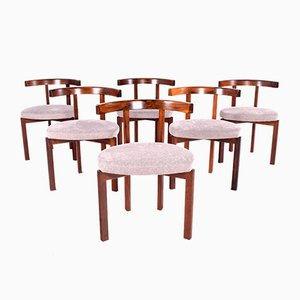 Rosewood Model 193 Dining Chairs by Inger Klingenberg for Cado, 1960s, Set of 6