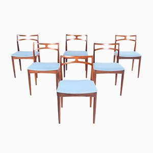 Rosewood Model 94 Dining Chairs by Johannes Andersen for Christian Linneberg, 1960s, Set of 6