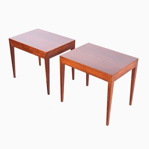 Rosewood Side Tables by Severin Hansen for Haslev Møbelsnedkeri, 1950s, Set of 2