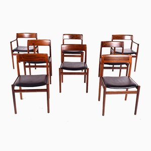 Danish Rosewood Dining Chairs by Kai Kristiansen for KS Møbler, 1960s, Set of 8
