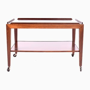 Rosewood Tea Trolley by Severin Hansen for Haslev, 1970s