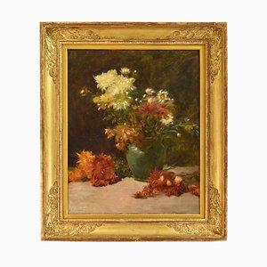 Antikes Blumengemälde von Albert Cresswell