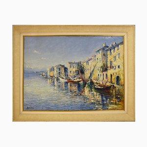 Marine Gemälde von Italo Giordani, 1930er