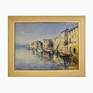 Marine Painting by Italo Giordani, 1930s