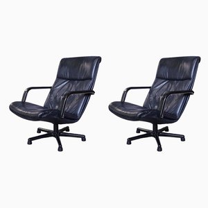Vintage Model F154 Lounge Chairs by Geoffrey Harcourt for Artifort, 1980s, Set of 2