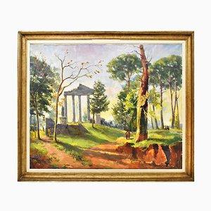 Dipinto di paesaggio di Tilleux Joseph Martin, 1949