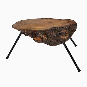 Mid-Century Austrian Solid Cherry Tree Trunk Coffee Table, 1950s